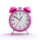 Pink alarm clock Stock Photos