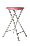Pink aluminium stool royalty free stock image