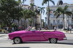 American classic car in Havana, Cuba Royalty Free Stock Photography