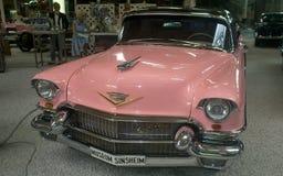 Pink American dream car - Museum Sinsheim. Classic american cars Cadillac Sedan  from the 1956 in Sinsheim Museum.  - Germany.  Cadillac Eldorado Royalty Free Stock Photos