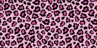 Free Pink And Black Leopard Skin Fur Print Pattern. Royalty Free Stock Photos - 130578358