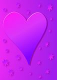 Pink And Purple Heart Royalty Free Stock Images