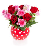 Pink And Red Roses Stock Image