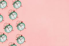 Free Pink And Teal Daylight Savings Time Concept Royalty Free Stock Photography - 156403747