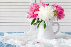 Free Pink And White Peonies Still Life Royalty Free Stock Image - 95865326