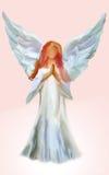 Pink angel stock illustration
