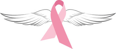 Pink Angel Wings Stock Photography
