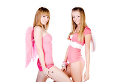 Pink angels Royalty Free Stock Photography