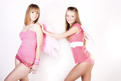 Pink angels Royalty Free Stock Images