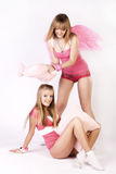 Pink angels Stock Photography