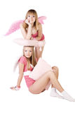 Pink angels Royalty Free Stock Photos