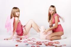 Pink angels Stock Photos