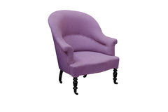 Pink antique arm chair with clipping path Stock Photo