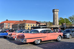Pink antique car Royalty Free Stock Photo