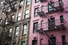 Pink apartment building, New York City Royalty Free Stock Photo