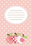 Pink apple patchwork background Royalty Free Stock Images
