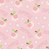 Pink apple seamless Royalty Free Stock Images