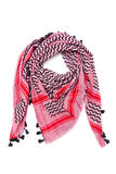 Pink arabic scarf isolated on white background. The pink arabic scarf isolated on white background Royalty Free Stock Image