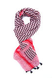 Pink arabic scarf isolated on white background. The pink arabic scarf isolated on white background Stock Photography