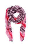 Pink arabic scarf  on white background. The pink arabic scarf  on white background Stock Images