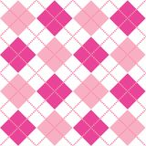 Pink Argyle. An argyle pattern in shades of pink Stock Photos