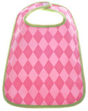 Pink Argyle Baby Girl Bib Royalty Free Stock Image