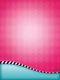 Pink Argyle Background. Pink argyle flyer background with a striped wave Royalty Free Stock Images