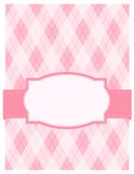 Pink argyle background card