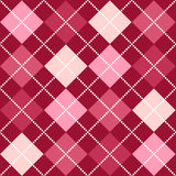 Pink Argyle Pattern. A background argyle pattern in shades of pink Royalty Free Stock Image