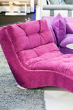 Pink armchair. Pink and comfort armchair for livingroom on the carpet Royalty Free Stock Photos