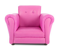 Pink armchair. Isolated on white background Royalty Free Stock Images