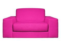Pink armchair. Modern pink armchair isolated on white background Stock Photography