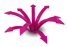 Pink arrows Royalty Free Stock Images