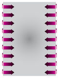Pink arrows from both side Royalty Free Stock Photography