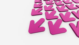 Pink arrows business Royalty Free Stock Image