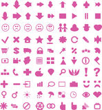 Pink arrows and icons Royalty Free Stock Photography