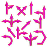 Pink Arrows Royalty Free Stock Photos