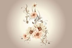 Pink art flowers Royalty Free Stock Photography