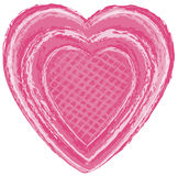 Pink Art Heart. Vector art in Illustrator 8. Heart illustrated in a painterly fashion with brushstrokes Stock Photos