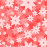 Pink art vector pattern. Seamless flower background. Fabric texture. Floral modern design. Pretty cute wallpaper Royalty Free Stock Photos