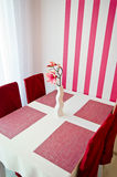 Pink artificial flower as room decoration Stock Photo