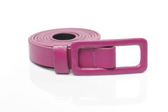 Pink Artificial leather belt Stock Images