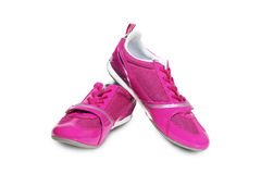 Pink athletic shoes Royalty Free Stock Photos