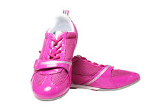 Pink athletic shoes Royalty Free Stock Photography