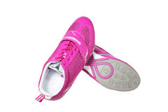 Pink athletic shoes Royalty Free Stock Images