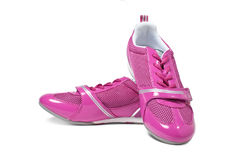 Pink athletic shoes Royalty Free Stock Image