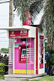 Pink ATM Stock Photo