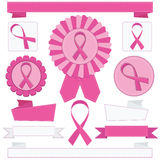 Pink awareness ribbons Stock Photography