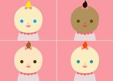 Pink babies Royalty Free Stock Image