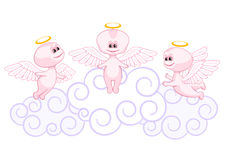 Pink baby angels Stock Photo